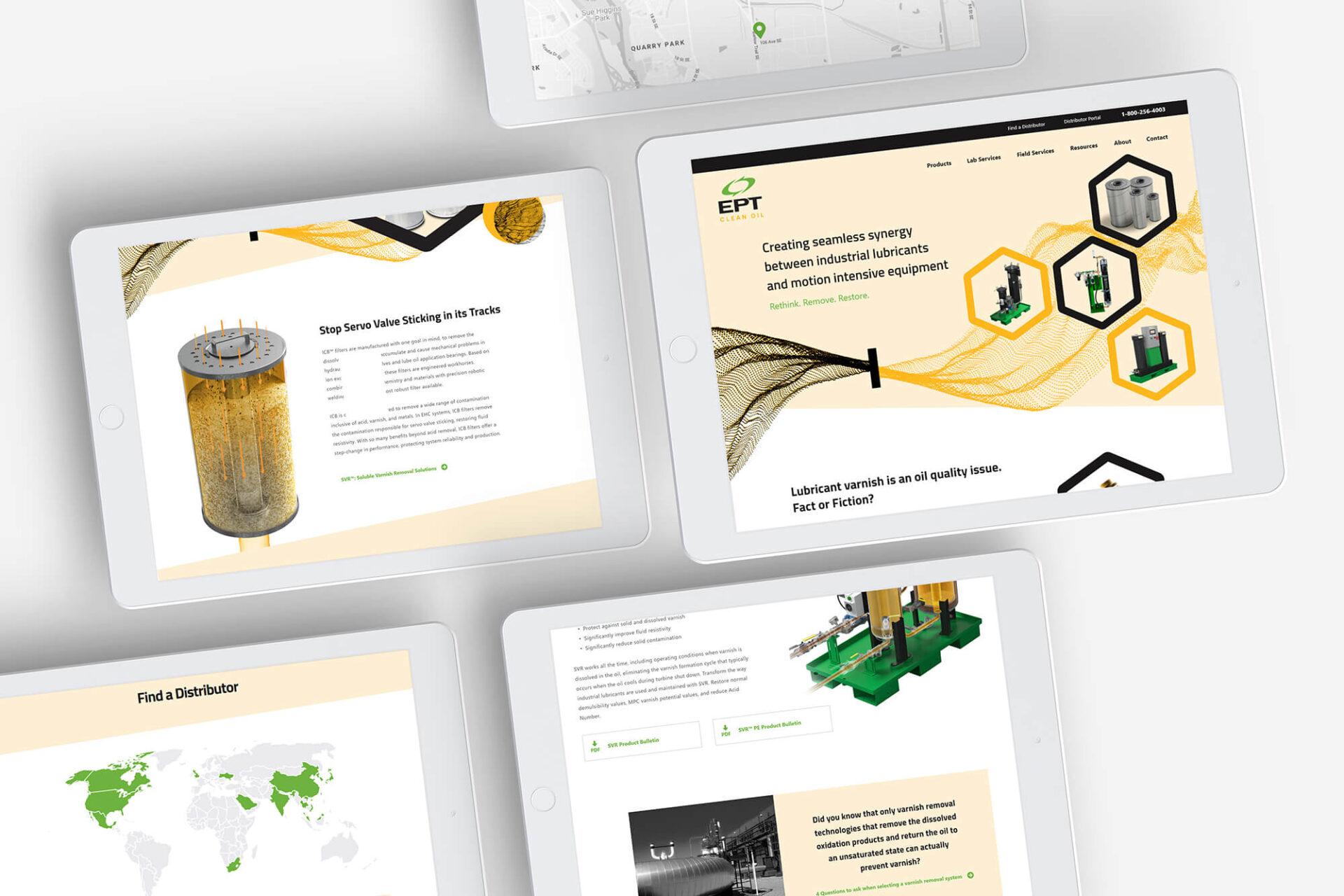 EPT Website Screens
